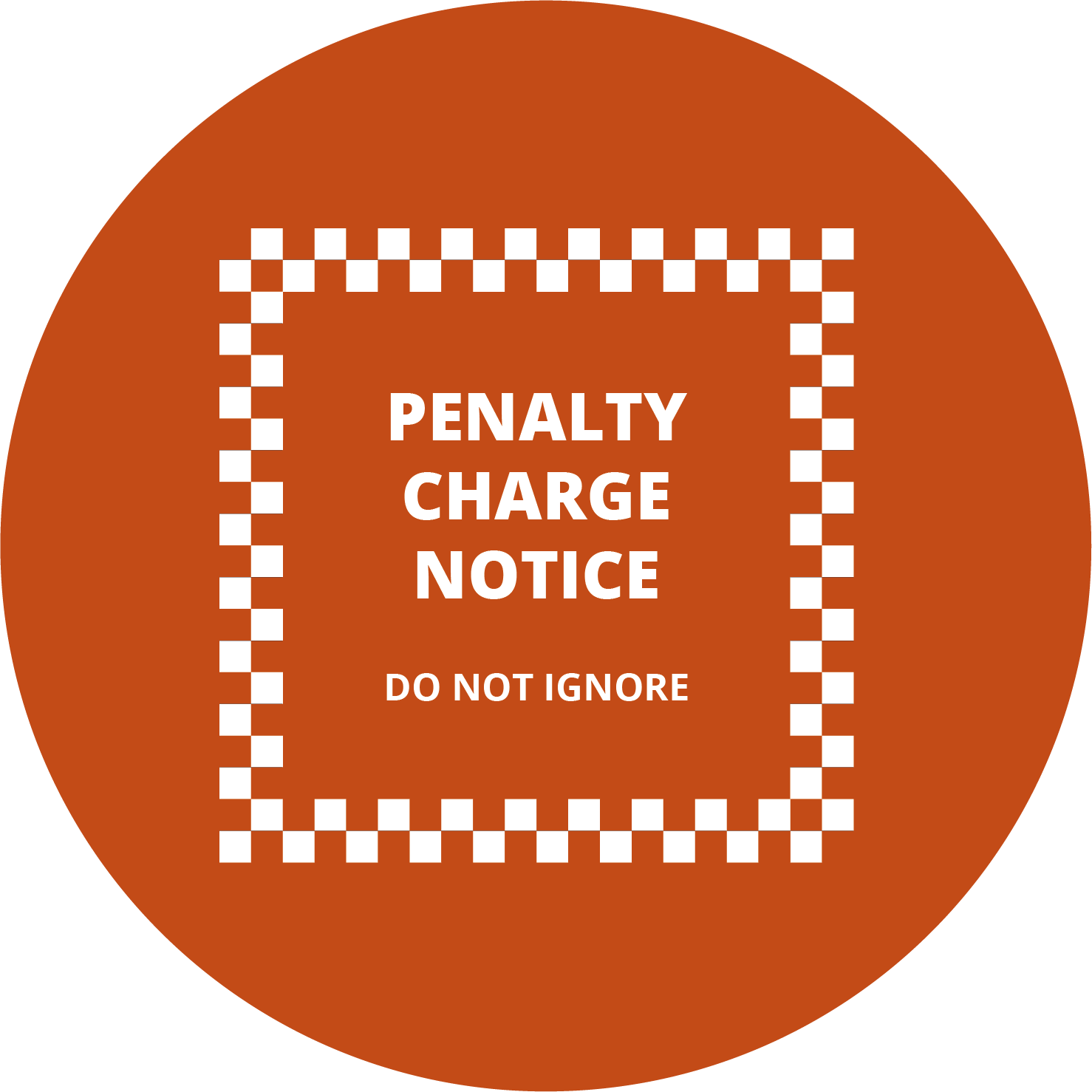 Large Button showing Penalty Charge Notice graphic