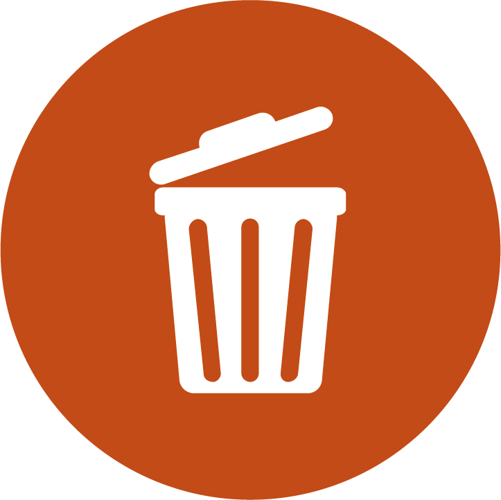Small Button showing a bin icon representing throwing a PCN away