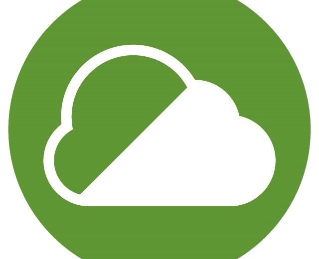 Icon of white cloud in a green circle indicating a Clean Air Zone