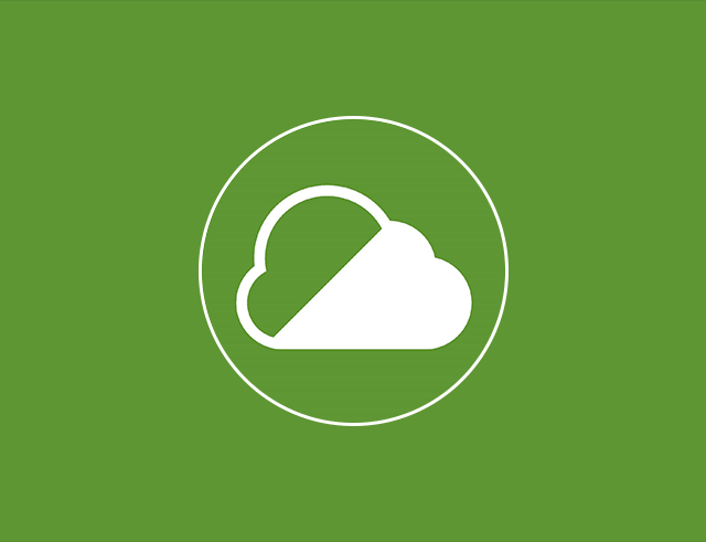 Symbol of a white cloud in a green circle representing Clean Air Zones in England (outside London)