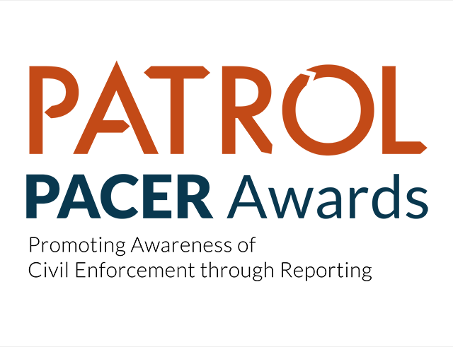 Small Logo of the PATROL Promoting Awarness of Civil Enforcement through Reporting (PACER) Awards_