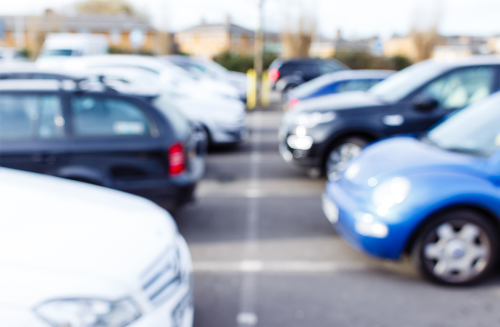 Photograph of cars in a privately operated car park in the UK